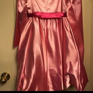 Pink Dama bridesmaid dress
